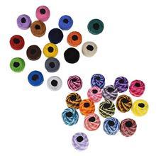 16 шт. нить для вышивки, 50 м/рулон, хлопок, сделай сам, для рукоделия, для вышивки крестиком, для вязания, для крашения линии, швейные инструменты, аксессуары