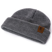 1 Pcs Hat PU Letter True Casual Beanies for Men Women Warm Knitted Winter Hat Fashion Solid Hip-hop Beanie Hat Unisex Cap