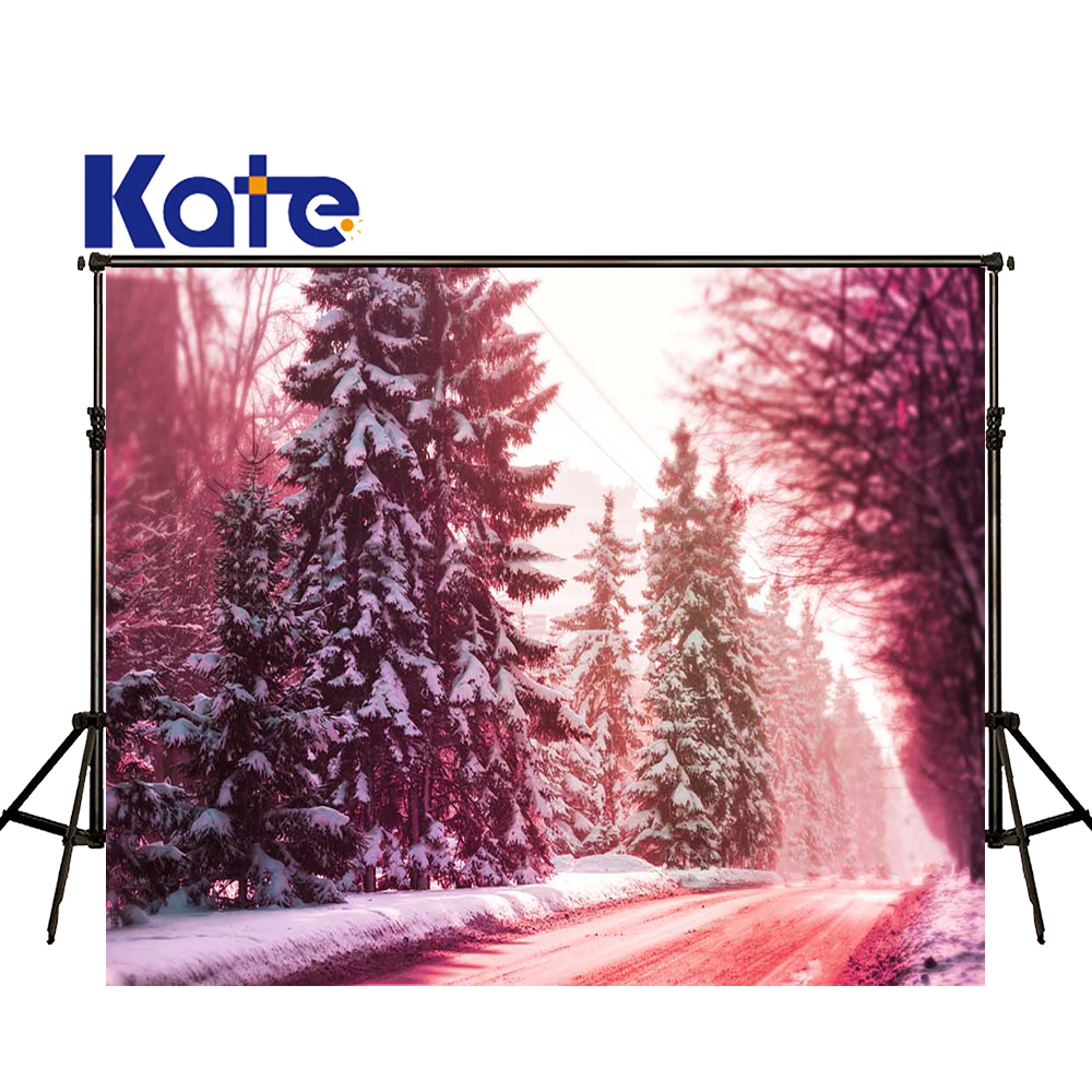 KATE Photography Backdrops Winter Forest Backdrop Natural Scenery Background Kids Christmas Backdrops Pine Tree Photo for Studio