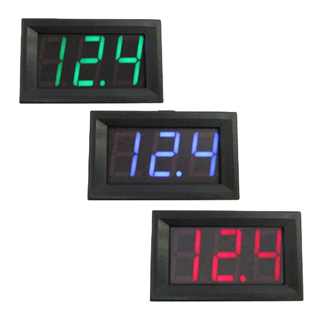 LED Digital Voltmeter 0.56 inch DC 4.50V-30.0V Home Use Voltage Display 2 Wires Voltage Detector Monitor Red Black Blue sj acv056fb 0 56 3 digital led blue light display 2 line ac voltmeter black 12 380v