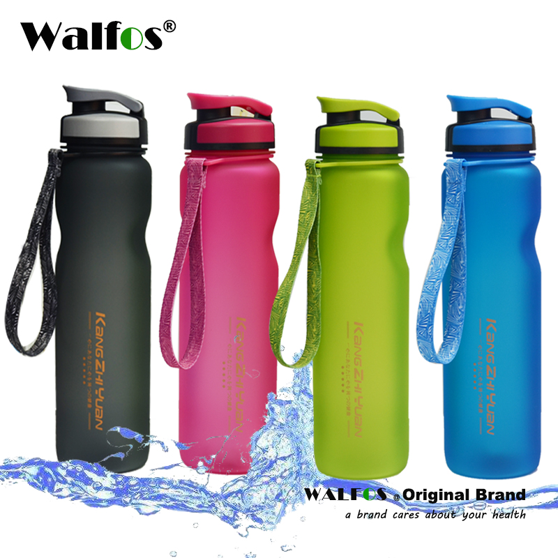 WALFOS 1000 ml Portable Sport Bottle of Water Sport Bottle BPA Free Water Bottles Tea Infuser Space Bicycle Cycling Shaker image