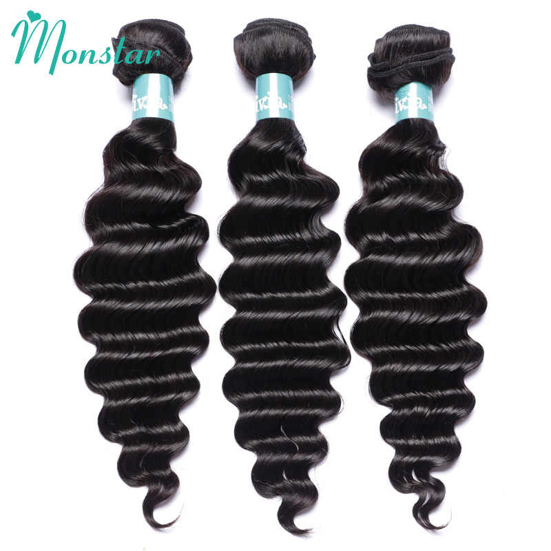 Monstar Remy Peruvian Hair Bundles 1/3/4 Pcs lot Natural Color Loose Deep Wave Curly Weave Cheap Mink Unprocessed Human Hair