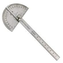 Транспортир Угол искатель ремесленник правило линейка из нержавеющей стали круглая головка измерительная угловая рукоятка Rulergeneral инструмент