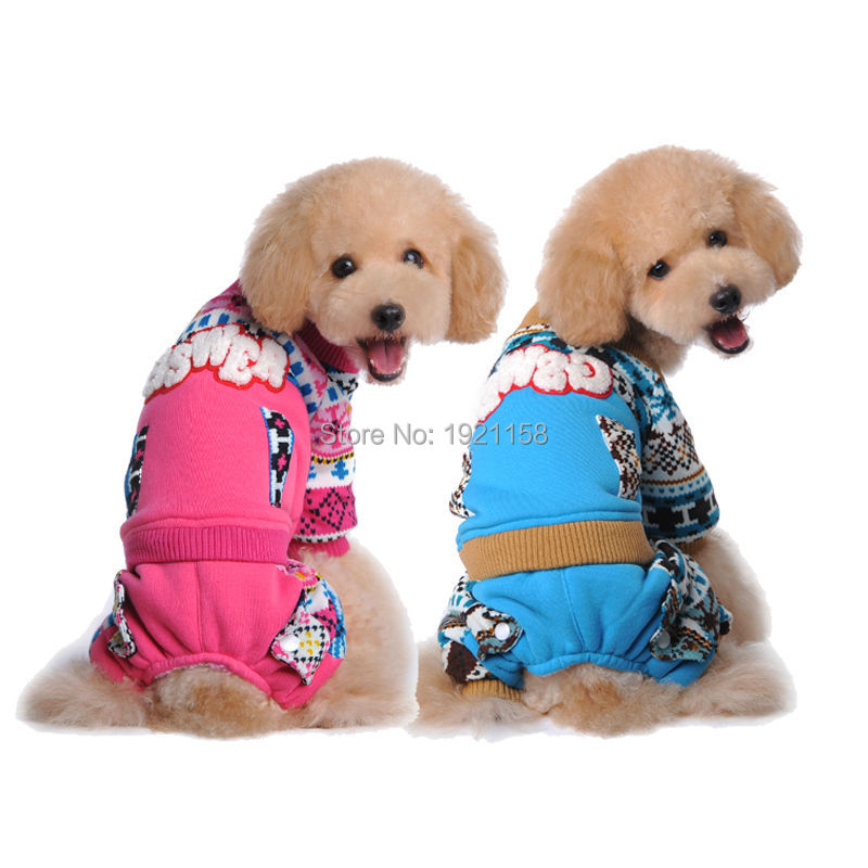New Winter Warm Pet dog cotton clothes Lovely colorful pattern dog coat clothes four legs free shipping