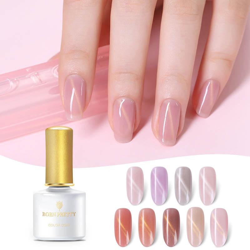 BORN PRETTY Semi transparent Nude Jelly Nail Gel 6ml Pink