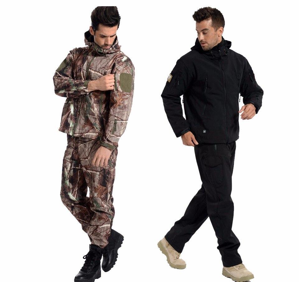 Ao Ar Livre Camuflagem Conjunto Jaqueta Homens