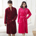 2016 New Style Solid color Thickened  Lovers Pajamas Autumn and Winter Coral Fleece Bathrobe Night  Robe Free Shipping 8 Colors