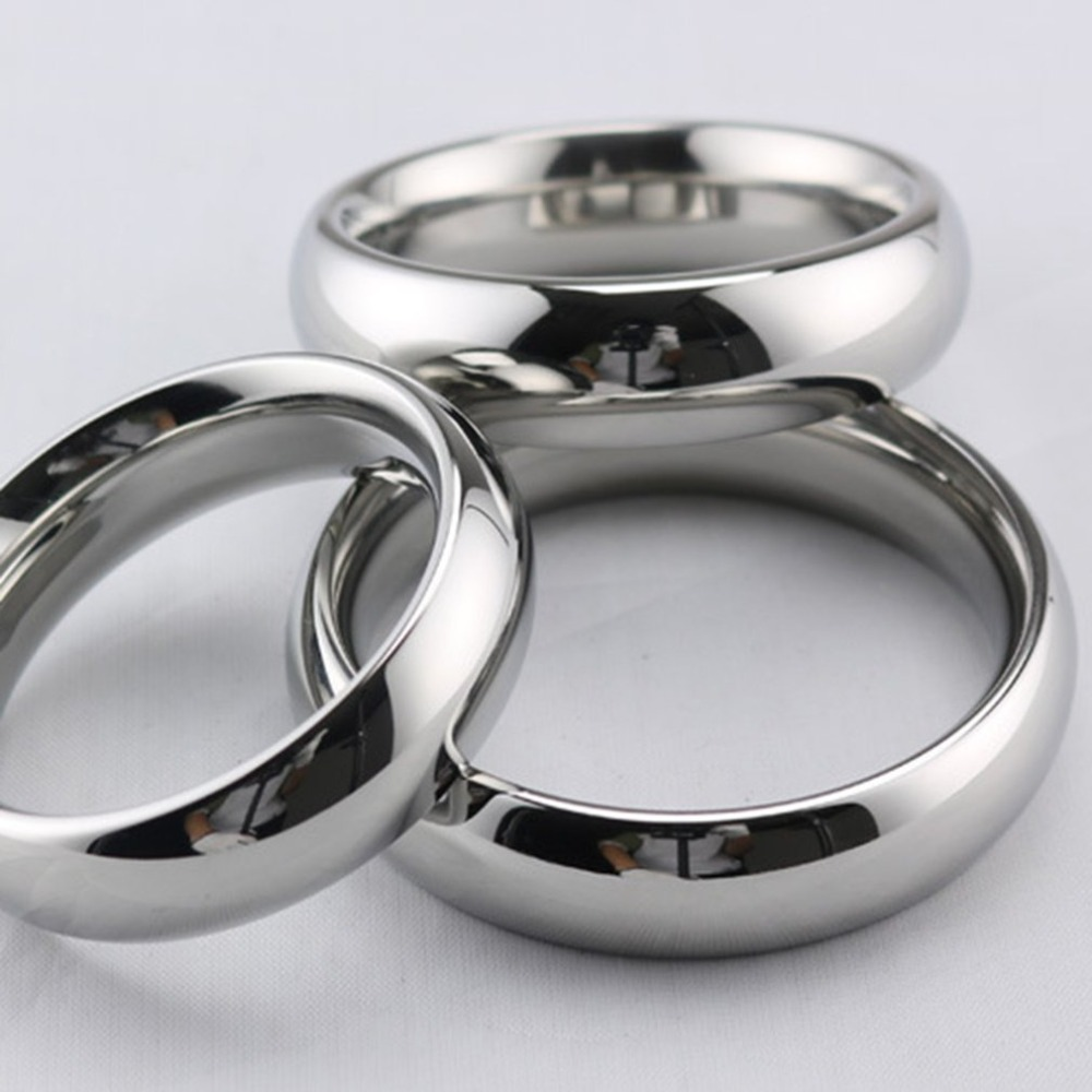 40/45/50mm Male Stainless Steel Penis Ring Sex Toy For Men Penis Delay Ejaculation Time Metal Cock Ring Weight-Bearing Ring