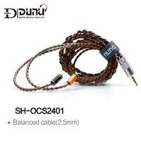 DUNU SH OCS2401 SHOCS2401 Стандартный MMCX разъем 2,5 мм сбалансированный наушники Обновление кабель для Shure/UE/SONY/JVC/DK3001/Сокол