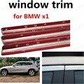 Best selling Estilo Do Carro Acessórios Do Exterior Do Carro Decoração Tira de aço Inoxidável janela da guarnição Para BMW x1 sem coluna