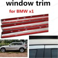 best selling Stainless steel Car Styling Car Exterior Accessories Decoration Strip window trim For BMW x1 without column