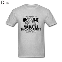 Awesome Freestyle Snowboarder T Shirt Men Man S Digital Direct Printing Short Sleeve Custom 3XL Couple