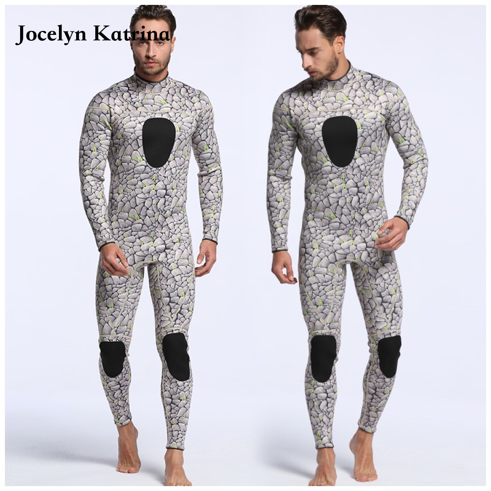 2017 Men Plus Size Diving Wetsuit Keep Warm 3mm Neoprene One Piece Full Suit Blind Stitching Jumpsuit Surfing Suit men s winter warm swimwear rashguard male camouflage one piece swimsuit 3mm neoprene wetsuit man snorkeling diving suit