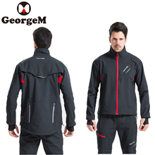 2018 New Windproof Winter Cycling Jacket Mens Outdoor Sports Riding Bicycle Jerseys Rain Jacket Breathable Bike Clothing Jacket