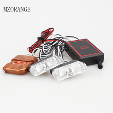 2x2 LED Strobe Light Police Flashing Warning Brake Lamp DC 12V 4W Emergency Truck Motorcycle