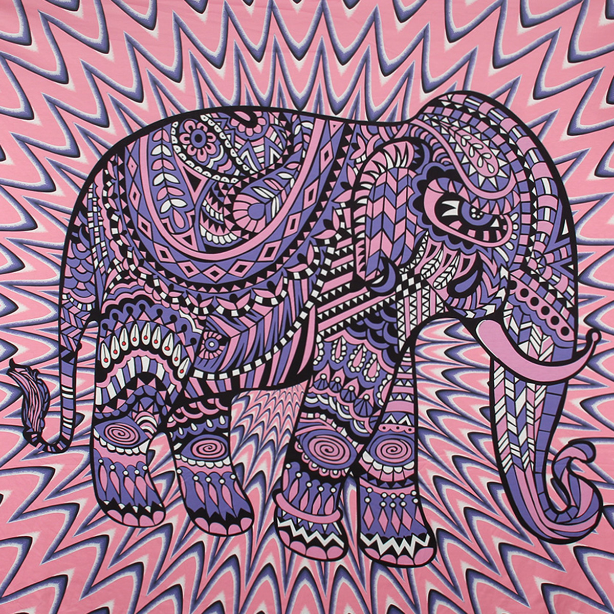 Elephant Mandala Tapestry Throw Towel Hippie Tapestry Floral Printed Home Decor Wall Tapestries Bedspread 210*150CM 20