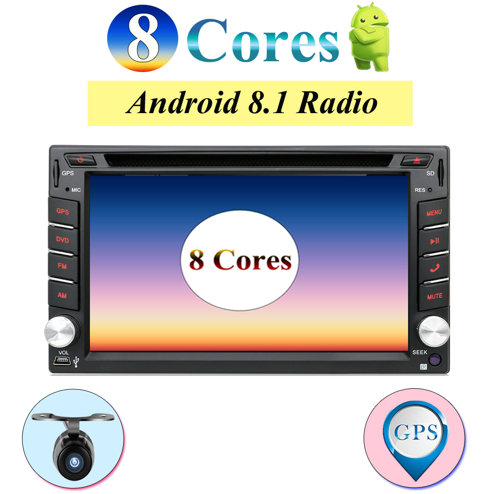 Núcleo octa android 8.1 dvd do carro para nissan qashqai x trail-almera juke multimídia universal do gps do carro jogador de navegação câmera livre