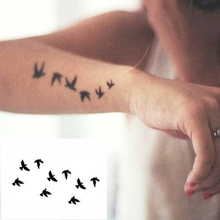 Design 1PCS Waterproof Temporary Tattoo Sticker Birds Pattern Deacls Body Art DIY Beauty Tattoos