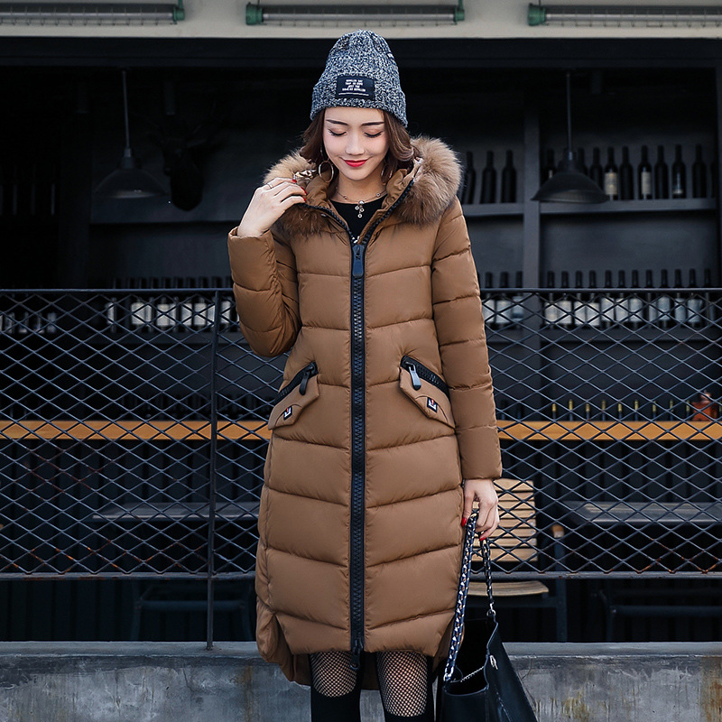 RYTISLO 2017 Winter Women Parka Coat Women Long Casual Solid Slim Female Fur Hooded Coat Jacket Thick Warm Multicolor Large Size akslxdmmd casual thick winter jacket women parka 2017 new fur hooded long coat female solid color overcoat lh1203