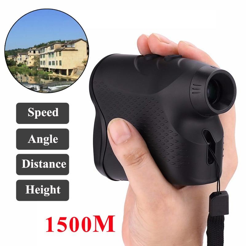 1500M Laser Rangefinder Telescope Digital Hunting Golf Rangefinder Laser Meter Distance Measure Tester Professional Equipment-in Rangefinders from Sports & Entertainment