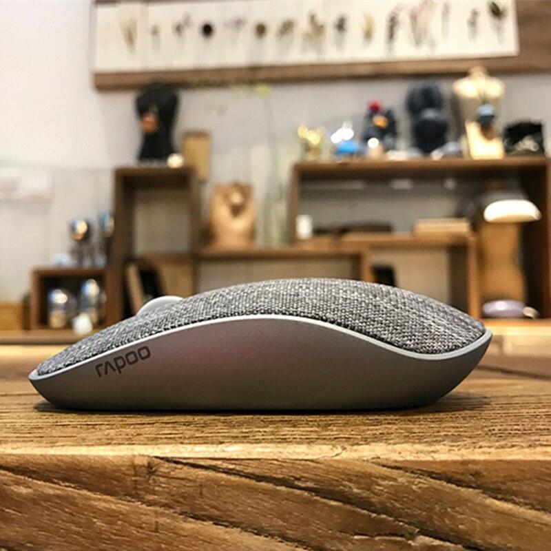 Neue Rapoo Stoff Optische Drahtlose Maus Usb Gaming Mäuse Mit Weichen Stoff Abdeckung Super Slim Portable Für Laptop Computer