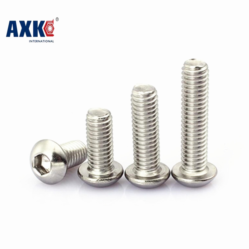10-50pcs/lot M6*8/10/12/14/16/18/20/25/30/35/40/45/50/55/60/65/70/75/80-100 stainless steel 304 hex socket pan head screws 189 2pc din912 m10 x 16 20 25 30 35 40 45 50 55 60 65 screw stainless steel a2 hexagon hex socket head cap screws