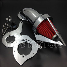 Cone Spike Air Cleaner intake for Honda Aero 750 VT750 all year 1986-2012 Chrome Motorcycle Part