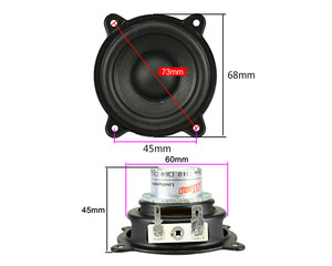 Image 2 - GHXAMP 2.5 INCH 15W For Pill XL Speaker Woofer Full Range Neodymium Portable Speaker Car CD Amplifier Speaker Buletooth Rusty