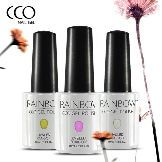 CCO Rainbow UV Gel Esmalte de Uñas Pegamento Del Brillo Elegante ...