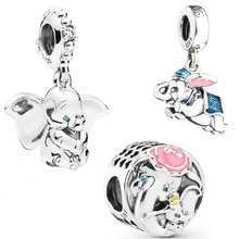 eb6133cfe 2019 New Authentic 925 Sterling Silver Dumbo Hanging Charm Mrs Jumbo Charm  Bracelet Fit Pandora Bracelet · 4 Colors Available