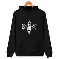 ALIZAZA New 2017 Autumn Casual Punk Cotton Hip Hop Outerwear Printed Black Slipknot Rock Band Hoodies