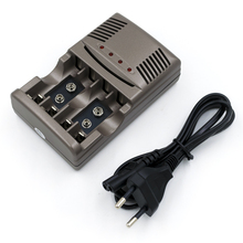 PALO Brand Battery Charger With Discharge Function for AA, AAA, 9V Ni-MH Ni-CD Rechargeable Batteries (3 in 1)