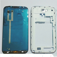 New Original Middle Frame Bezel Back Cover Full Housing Back For Samsung Galaxy Note 2 II