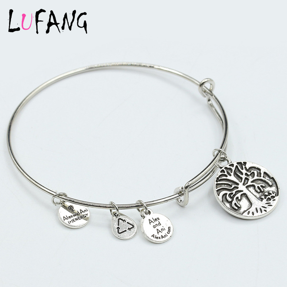 2017 Fashion Best Friends Heart Cute Friendship Bracelets Bangles Silver Color Pendant Life Tree Charm For Women In From Jewelry