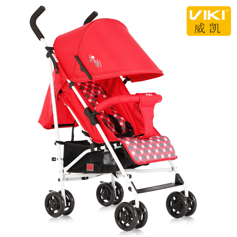 VIKI Portable Baby Umbrella Car, Lightweight Baby Stroller / Pram, Folding Pushchair for 0~36 Months Kids, Can Sit Can Lie