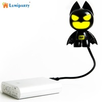 LumiParty Creative USB Light Batman LED Flexible Light For Laptop PC Notebook