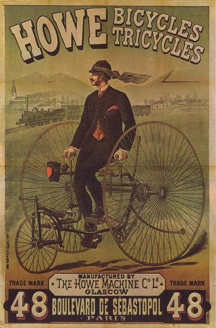 Retro Advertising Posters The Howe Machine Bicycles Ads Classic Wall Stickers Canvas Painting Vintage Poster Home