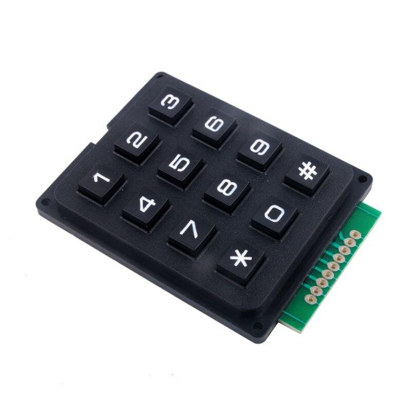 4 X 3 Matrix Keyboard Keypad Module with 12 Keys 4 *3 Plastic Keys Switch for Ar-du-ino Controller