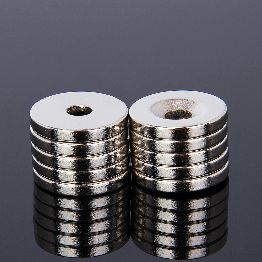 20 x 3mm 5mm Hole 10pcs N52 Strong Ring Round Magnets Rare Earth Neodymium Circular Permanent Magnet Super magnetic