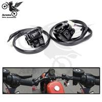 Top kwaliteit metalen retro motorfiets controle voor harley schakelaar 25 MM universal moto schakelaars motorbike controller multifunctionele