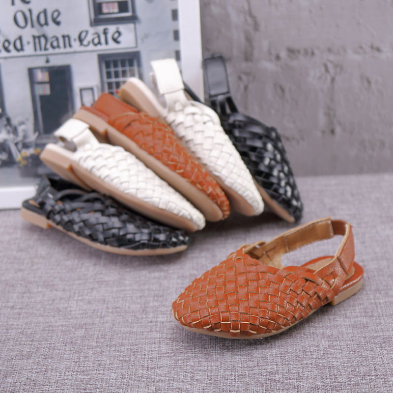 Children's Shoes New 2019 Brand Kids Sandals Braided Shoes Summer Children Fisherman Shoes Melissa Girls Sandals Boy Beach Braided Sandals Kids