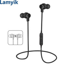 Lamyik MP3 Player Earphone with TF Memory Card Slot Bluetooth Headphone Wireless Sport Headset Stereo Earphone IPX8 Waterproof(China)