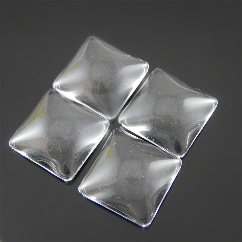 20pcs/lot Small Square Glass Transparent Handmade Crafts Accessory Scrapbooking Component Clear New Arrival Glass 51934