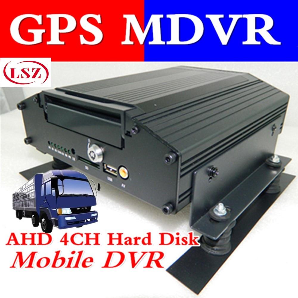 4 way hard disk video recorder GPS AHD HD monitor host HD HDD coaxial video recording цена 2017