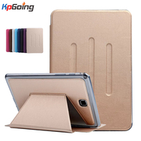Front Support For Samsung Galaxy Tab A T350 Stand PU Leather Card Solt Cover Case For
