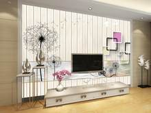 3d wallpaper for room Dandelion Wood board Background wall mural 3d wallpaper 3d customized wallpaper(China)