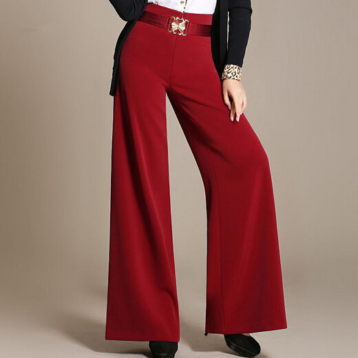 Fashion Women Elegant Wide Leg   Pants   Loose Ol Casual Brand   Capris   Trousers