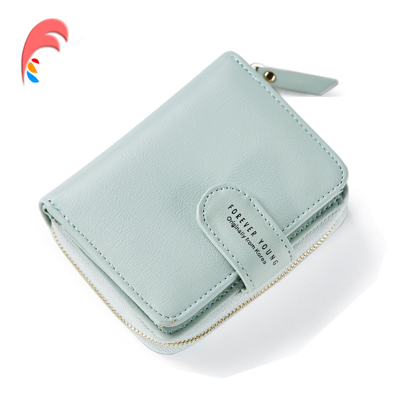 WEICHEN Leather Wallet Women Short Ladies Fashion Small Wallet Coin Purse Zipper Card Wallet Female Purses Money Bag Card Holder 2017new coin purses wallet ladies 3d printing cats dogs animal big face fashion cute small zipper bag for women mini coin purse
