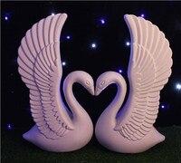 Luxury Wedding Decor Centerpieces White Swan Plastic Roman Column Wedding Welcome Area Decoration Photo Booth Props