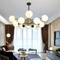 Kreative magie bean licht Nordic postmodernen persönlichkeit Einfache Multi-kopf glas ball lampe Einfach zu installieren Schlafzimmer wohnzimmer roomLED